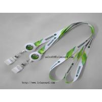Wholesale Polyester Neck Lanyard with Retractable Badge Reel for Business ID Name Badge Holder from china suppliers