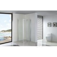 Quality Foldable Bathroom Clear Glass Shower Enclosures Installed with Fixed Side Panel for sale