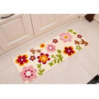 Wholesale Cute colorful flowers design absorben printed floor mats for kitchen / bedrooms , 45×120cm comfortable from china suppliers
