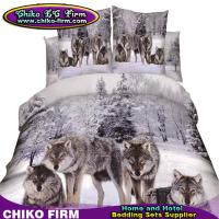 Wholesale 100% Cotton Queen Size 3D High Digital Wolf Printing Bedding Sets from china suppliers