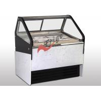 Wholesale 6 / 8 Barrel Gelato Ice Cream Freezer Display Case Ventilation Cooling With Marble Base from china suppliers