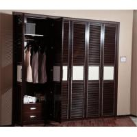 Wholesale Black / White Hinged Door Wardrobes MDF Board Carcase Five Door Customized Size from china suppliers