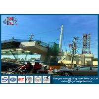 Buy cheap Anti - Rust Electric Power Poles , Commercial Light Poles For Distribution Line from wholesalers