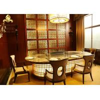 Wholesale 10 Seats Oval Shape Stainless Stell Japanese Teppanyaki Table Grill from china suppliers