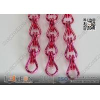 Quality Pink Color Aluminum Mesh Chain Fly Screen for Architectural Decorative Curtain for sale