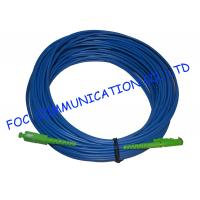 Wholesale Indoor Armored Fiber Optic Jumpers SM SC/APC E2000/APC Blue Jacket LSZH from china suppliers