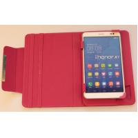 Wholesale Pink 7 inch Tablet Cases Universal Tablet Flip Leather Case Two Slot Stand from china suppliers