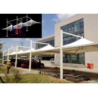 Wholesale White Membrane Surfaced Car Parking Tensile Structure Steel Cable Tightened from china suppliers