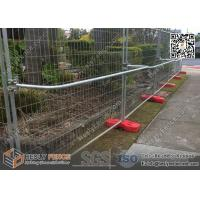Wholesale AustraliaTemporary Fencing Panel with Red Color Plastic Feet | 2.1X2.4m | China TempFence from china suppliers