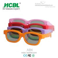 Wholesale Pink / Red Plastic Frame Kid Chroma Depth 3d Glasses For Cinema With 0.4mm TAC Filter Lens from china suppliers