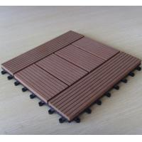 Wholesale Quick WPC Deck Tiles For Balcony With Customized Pattern , Timber Decking Tiles from china suppliers