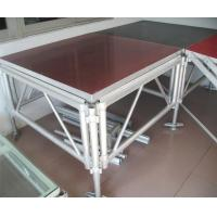 Quality Adjustable Portable Aluminium Stage Platform / Movable Wedding Stage Aluminum for sale