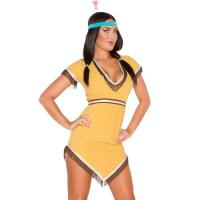 Wholesale Yellow Native Lily Costume Sexy Girl Halloween Costume Dress And Hairband from china suppliers