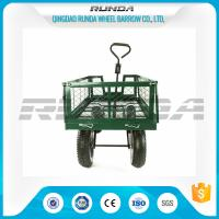 Wholesale Steel Mesh 4 Wheel Garden Cart Load Capacity 150-300kg Powder Coated Finish from china suppliers