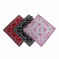 Wholesale Colorful Printed Bandanas with Low-cadmium/Eco-friendly Features, Available in Various Designs from china suppliers