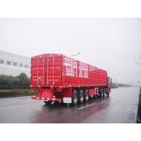 Wholesale 40 feet-3 Axles-35T-Single Tire-Light Rail Side Flat Bed container semi trailer from china suppliers