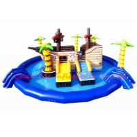 Buy cheap 15m PVC Pirate Ship Theme Inflatable Water Park Kids Blow Up Water Park With Pool from wholesalers