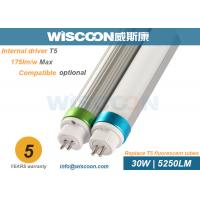 Wholesale Commercial T5 LED Lights 5250 Lm , Hospital Replacement LED Tubes 50-60Hz from china suppliers