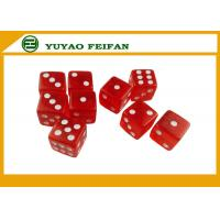 Wholesale OEM Acrylic Professional Straight Corner 6 Sided Dice Sets With 3mm Dots from china suppliers