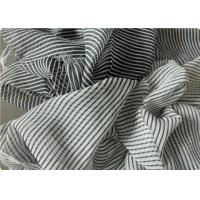 Wholesale Black And White Striped Polyester Fabric , Garment Curtain Elastic Polyester Fabric from china suppliers
