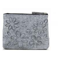 Wholesale factory directly unique design customizable felt cosmetic bag from china suppliers