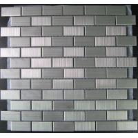 Wholesale Square Brushed Stainless Steel Metal Mosaic Tiles For Kitchen, Bathroom from china suppliers