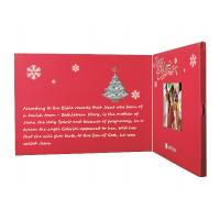 Wholesale Beautiful Red 2.4 Inch Custom Video Greeting Cards Brochure For Christmas from china suppliers
