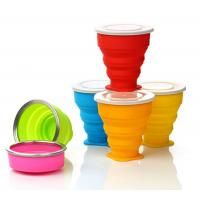 Wholesale Best Selling Collapsibl Silicone Cup/Promotional Gift Food Grade Silicone Foldable Cup from china suppliers