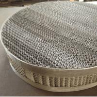 Wholesale 125X/Y, 250X/Y Stainless Steel Structured Packing|Wire Mesh Distillation Column Packing from china suppliers