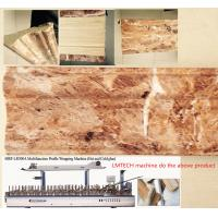 Buy cheap wood plastic composite WPC decorative Wall panel profile wrapping laminating machine from wholesalers