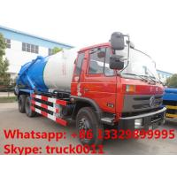 Wholesale Dongfeng 6*4 LHD/RHD Cummins 210hp diesel 16m3 vacuum sewage suction truck for sale, dongfeng brand sludge tank truck from china suppliers