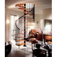 Wholesale Aluminum Custom Spiral Staircases With Solid Wood Steps from china suppliers