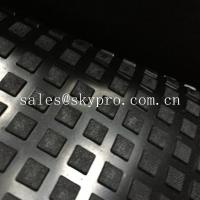 Wholesale Solid Square Heavy Duty Rubber Mat With Water Proof Black Color Emboss Top IR Butyl from china suppliers