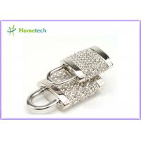China 256MB / 512 MB / 1GB Silver Diamonds Gadget Crystal Lock USB Flash Drive Real Capacity on sale