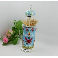 Wholesale Shinny Gifts High Quality Metal European Enameled Toothpick Holder Vintage Home Decoration from china suppliers