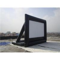 Wholesale Black And White Portable Inflatable Blow Up Movie Screen 0.55mm PVC Tarpaulin from china suppliers