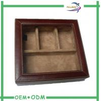 Wholesale Window Wooden Watch Gift Boxes Real Leather Expensive Packing from china suppliers