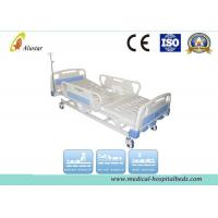 Quality CE Approved ABS Side Rail Hospital 3 crank Manual Nursing Medical Bed (ALS-M306) for sale