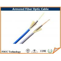 Wholesale Round Tight - Buffered Armored Fiber Optic Cable For Optical Device / Equipment from china suppliers