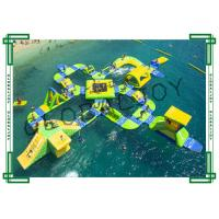Wholesale 65 Person Inflatable Water Course , Commercial Inflatable Water World from china suppliers