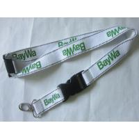 Wholesale White Polyester Reflective Lanyard With Reflective Band from china suppliers