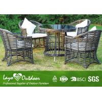 Wholesale Round Rattan Table Backyard Patio Furniture Dining Sets For 6 Leisure Style from china suppliers