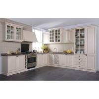 Buy cheap Euro Style Classic White PVC Kitchen cabinet from wholesalers