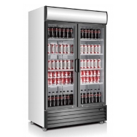 China Self Closing 688L Convenience Store Display Cooler on sale