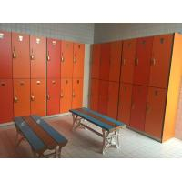 Wholesale PVC Material Double Tier Lockers , Orange Small Employee Lockers For Factory from china suppliers