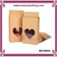 Wholesale Customize moistrue proof stand up aluminum foil kraft paper tea bag with window ME-KB003 from china suppliers