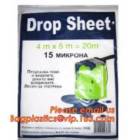Buy cheap plastic disposable cover sheet to protect the furniture, Plastic protective drop cloth/ dust sheet/cover film from wholesalers
