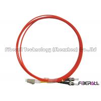 Wholesale Duplex LC To ST Fiber Patch Cord With Milled Pieces ST Fiber Connector Multimode from china suppliers