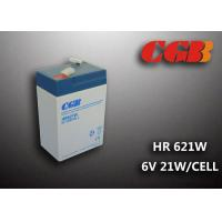 Wholesale HR621W 5AH 6V SLA Battery , High Rarte Sealed lead acid deep cycle battery from china suppliers