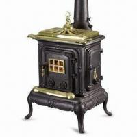 Wholesale Cast Iron Stove with Ash Box, Grate and 12cm Flue, Measures 57 x 46 x 87cm from china suppliers